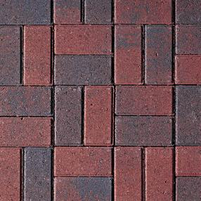 Red Charcoal Flash Pavers